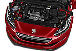 Car Stock 2014 Peugeot RCZ R 2 Door Coupe 2WD Engine high angle detail view