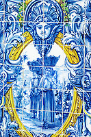 azulejos women carrying grapes in baskets ferreira port lodge vila nova de gaia porto portugal