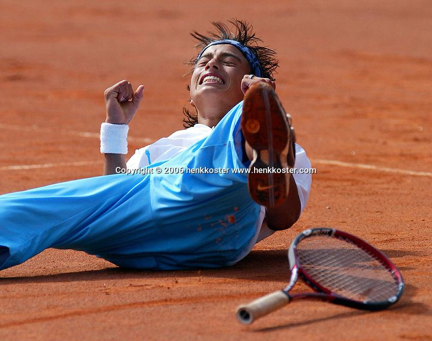 13-8-06,Den Haag, Tennis, Nationale Jeugdkampioenschappen, Winnaar jongens 16 jaar, Xander Sprong