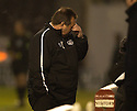 26/12/2005         Copyright Pic: James Stewart.File Name : sct_jspa21_motherwell_v_aberdeen.JIMMY CALDERWOOD CAN'T BEAR TO WATCH...Payments to :.James Stewart Photo Agency 19 Carronlea Drive, Falkirk. FK2 8DN      Vat Reg No. 607 6932 25.Office     : +44 (0)1324 570906     .Mobile   : +44 (0)7721 416997.Fax         : +44 (0)1324 570906.E-mail  :  jim@jspa.co.uk.If you require further information then contact Jim Stewart on any of the numbers above.........