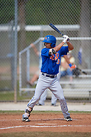 New York Mets Andres Gimenez (3) bats during a minor league Spring Training game against the Miami Marlins on March 26, 2017 at the Roger Dean Stadium Complex in Jupiter, Florida.  (Mike Janes/Four Seam Images)