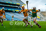 Mickey Boyle, Kerry in action against Matthew Donnelly, Antrim during the Joe McDonagh Cup Final match between Kerry and Antrim at Croke Park in Dublin.