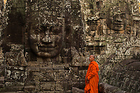 Monks at Angkor Wat, Bayon: NY, Brach, Moa, Men,Chen, Phen