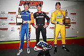 Scott Dixon, Chip Ganassi Racing Honda, Will Power, Team Penske Chevrolet, Simon Pagenaud, Team Penske Chevrolet, podium