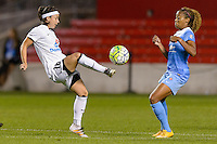 Chicago, IL - Saturday July 30, 2016: Tiffany Weimer, Casey Short during a regular season National Women's Soccer League (NWSL) match between the Chicago Red Stars and FC Kansas City at Toyota Park.