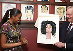Condola Rashad and Max Klimavicius attends the Sardi's portrait unveiling for Condola Rashad at Sardi's Restaurant on May 10, 2018 in New York City.