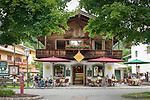 Austria, Tyrol, holiday region Kaiserwinkl, Koessen: Cafe Schmiedhaeusl at village centre | Oesterreich, Tirol, Ferienregion Kaiserwinkl, Koessen: Cafe Schmiedhaeusl im Ortszentrum