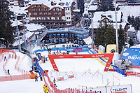 22nd December 2020, Madonna di Campiglio, Italy; FIS Mens slalom world cup race; Panoramic view of the course during inspection before 1st run of mens Slalom