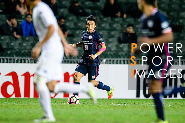 FC Kitchee Defender Bong Jin Kim (c) in action during the AFC Champions League 2017 Preliminary Stage match between  Kitchee SC (HKG) vs Hanoi FC (VIE) at the Hong Kong Stadium on 25 January 2017 in Hong Kong, Hong Kong. Photo by Marcio Rodrigo Machado/Power Sport Images