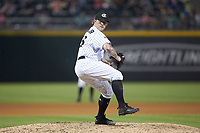 Charlotte Knights relief pitcher Robbie Ross Jr. (23) in action against the Indianapolis Indians at BB&T BallPark on May 26, 2018 in Charlotte, North Carolina. The Indians defeated the Knights 6-2.  (Brian Westerholt/Four Seam Images)