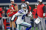 Dallas Cowboys wide receiver Jalen Guyton (83) in action during the pre-season game between the Tampa Bay Buccaneers and the Dallas Cowboys at the AT & T Stadium in Arlington, Texas.