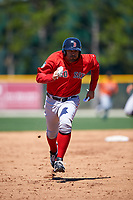 Boston Red Sox Carlos Quentin (18) running the bases during a minor league Spring Training game against the Baltimore Orioles on March 16, 2017 at the Buck O'Neil Baseball Complex in Sarasota, Florida. (Mike Janes/Four Seam Images)