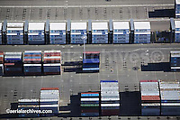 aerial photograph containers Maersk terminal, Port of Oakland, California