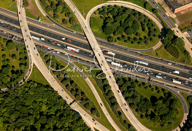 Aerial photography over Charlotte, NC, and the surrounding areas from May 2009. Photos by Charlotte photographer Patrick Schneider Photography. Photo of North Carolina interstate highway system.