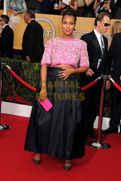 18 January 2014 - Los Angeles, California - Kerry Washington. 20th Annual Screen Actors Guild Awards - Arrivals held at The Shrine Auditorium. Photo Credit: Byron Purvis/AdMedia<br /> CAP/ADM/BP<br /> ©Byron Purvis/AdMedia/Capital Pictures