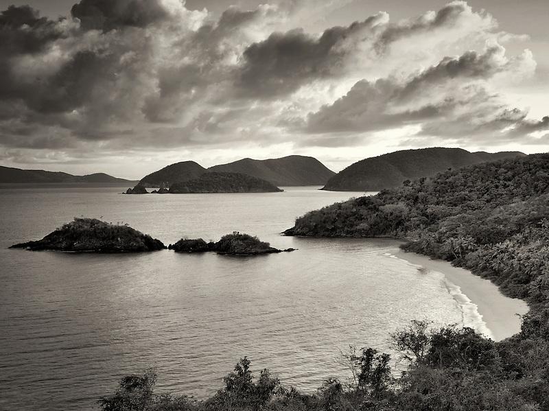 Trunk Bay sunrise. St. John, Virgin Islands National Park.