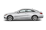 Driver side profile view of a 2014 Mercedes E Class 350 Coupe