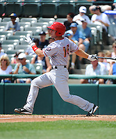 Harrisburg Senators catcher Brian Jeroloman (15) during game against the Trenton Thunder at ARM & HAMMER Park on July 31, 2013 in Trenton, NJ.  Harrisburg defeated Trenton 5-3.  (Tomasso DeRosa/Four Seam Images)