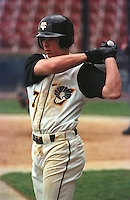 Third baseman and catcher Brandon Inge (7) of the Virginia Commonwealth University Rams in a game on March 1, 1998, at The Diamond in Richmond, Virginia. (Tom Priddy/Four Seam Images)