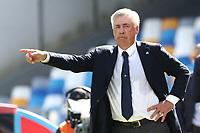 Carlo Ancelotti coach of Napoli gestures<br /> Napoli 29-9-2019 Stadio San Paolo <br /> Football Serie A 2019/2020 <br /> SSC Napoli - Brescia FC<br /> Photo Cesare Purini / Insidefoto