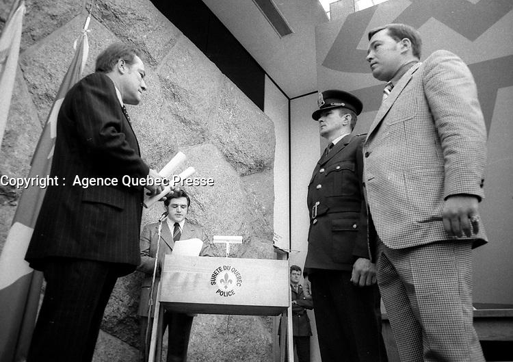 Jerome Choquette<br /> en mai 1974<br /> <br /> <br /> PHOTO : Agence Quebec Presse