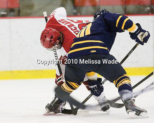 Pier-Olivier Michaud (Harvard - 39), Connor Jones (Quinnipiac - 10) - The visiting Quinnipiac University Bobcats defeated the Harvard University Crimson 3-1 on Wednesday, December 8, 2010, at Bright Hockey Center in Cambridge, Massachusetts.