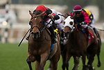 ARCADIA, CA - APRIL 07: Fatale Bere #6 with Joel Rosario wins the Providencia Stakes at Santa Anita Park on April 07, 2018 in Arcadia, California.(Photo by Alex Evers/Eclipse Sportswire/Getty Images)