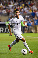 Cristiano Ronaldo (7) of Real Madrid. Real Madrid defeated A. C. Milan 5-1 during a 2012 Herbalife World Football Challenge match at Yankee Stadium in New York, NY, on August 8, 2012.
