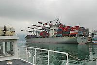 - container ship in La Spezia harbour....- nave portacontainer nel porto di la Spezia