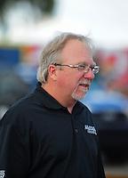 Jan 24, 2009; Chandler, AZ, USA; NHRA team owner Alan Johnson during testing at the National Time Trials at Firebird International Raceway. Mandatory Credit: Mark J. Rebilas-
