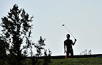 JEJU, SOUTH KOREA - APRIL 24:  Maeng Dong-seop of Korea tees off on the 18th hole during the Round Two of the Ballantine's Championship at Pinx Golf Club on April 24, 2010 in Jeju island, South Korea. Photo by Victor Fraile / The Power of Sport Images