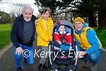 Enjoying a stroll in the Tralee town park on Saturday, l to r: Billy Balwin, Ellie Mae, Rory and Billy O'Connor.