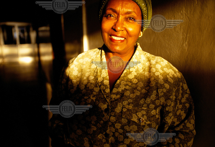 Edna Adan stands in her maternity hospital. Edna is a British trained midwife who is also Somaliland's Foreign Minister.