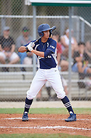 Aeneas Clark (8) during the WWBA World Championship at the Roger Dean Complex on October 12, 2019 in Jupiter, Florida.  Aeneas Clark attends Northwest Christian High School in Peoria, AZ and is Uncommitted.  (Mike Janes/Four Seam Images)