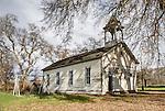 Old 1868 Cañon Dist. School, Brooks, California.
