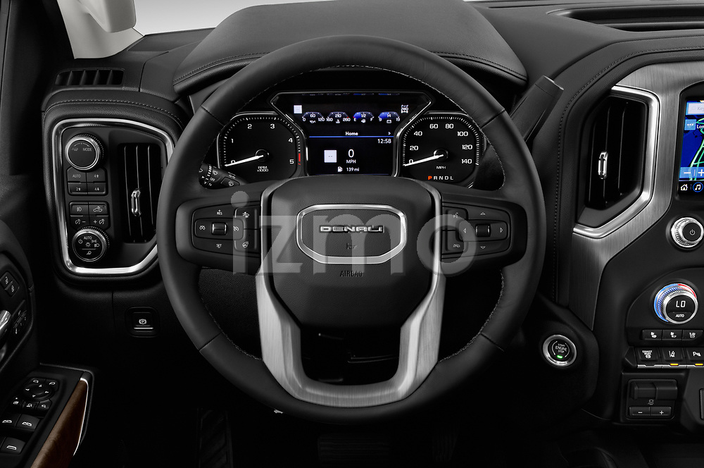 Car pictures of steering wheel view of a 2020 GMC Sierra-3500HD Denali 4 Door Pick-up Steering Wheel