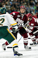 24 November 2009: University of Massachusetts Minuteman forward Marc Concannon, a Junior from Everett, MA, in action against the University of Vermont Catamounts at Gutterson Fieldhouse in Burlington, Vermont. The Minutemen defeated the Catamounts 6-2. Mandatory Credit: Ed Wolfstein Photo