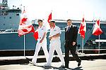 Canadian Prime Minister Stephen Harper at CFB Esquimalt in Victoria, British Columbia, Canada.