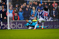 Saturday, 9 March 2013<br /> <br /> Pictured: Michel Vorm of Swansea City  saves a penalty kicked by Romelu Lukaku of West Bromwich Albion<br /> <br /> Re: Barclays Premier League West Bromich Albion v Swansea City FC  at the Hawthorns, Birmingham, West Midlands