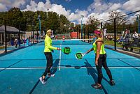 Netherlands, September 5,  2020, Amsterdam, Padel Dam, NK Padel, National Padel Championships, Womans doubles:  Michaella Krajicek (NED) (L) and Steffie Weterings (NED)<br /> Photo: Henk Koster/tennisimages.com