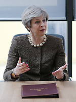 British Prime Minister Theresa May at the Swansea University Bay Campus, Swansea, Wales, UK. Monday 20 March 2017.