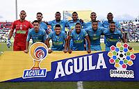 MONTERÍA-COLOMBIA, 29-10-2019: Jugadores de Jaguares de Córdoba, posan para una foto, antes de partido entre Jaguares de Córdoba, y Atlético Huila de la fecha 20 por la Liga Águila II 2019, en el estadio Jaraguay de Montería de la ciudad de Montería. / Players of Jaguares de Cordoba, pose for a photo, prior a match between Jaguares de Cordoba, and Atletico Huila, of the 20th date for the Leguaje Aguila II 2019 at Jaraguay de Montería Stadium in Monteria city. / Photo: VizzorImage / Andrés López  / Cont.