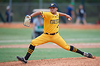 Omar Sanchez (40) during the WWBA World Championship at the Roger Dean Complex on October 12, 2019 in Jupiter, Florida.  Omar Sanchez attends BYOU Academy in Juncos, PR and is committed to Florida Southwestern State College.  (Mike Janes/Four Seam Images)