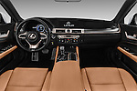 Stock photo of straight dashboard view of 2016 Lexus GS F-Sport-RWD 4 Door Sedan Dashboard