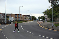2016 07 06 Empty streets during the Wales UEFA Euro game, Swansea, UK