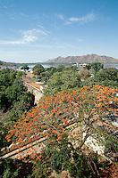 Blick vom Citypalast, Udaipur (Rajasthan), Indien