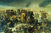 Gros 1771-1835.  Napoleon sur le champ de bataille d'Eylau, 1808.  Louvre.  Reference only.
