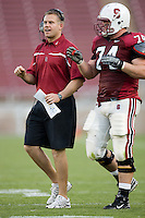12 April 2007: D.J. Durkin and James McGillicuddy during the annual Spring Game at Stanford Stadium in Stanford, CA.