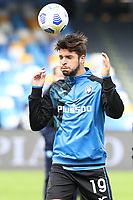 Berat Djimsiti of Atalanta BC during the warm up<br /> prior to the Serie A football match between SSC Napoli and Atalanta BC at stadio San Paolo in Napoli (Italy), October 17th, 2020. <br /> Photo Cesare Purini / Insidefoto