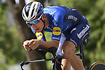 João Almeida (POR) Deceuninck-Quick Step recons the course before Stage 21 of the 2021 Giro d'Italia, an individual time trial running 30.3km from Senago to Milan, Italy. 30th May 2021.  <br /> Picture: LaPresse/Fabio Ferrari   Cyclefile<br /> <br /> All photos usage must carry mandatory copyright credit (© Cyclefile   LaPresse/Fabio Ferrari)
